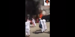 طلاب يحرقون سيارة مدير مدرسة